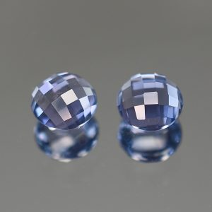 BlueSpinel_rose_cut_round_pair_5.5mm_1.34cts_sp246