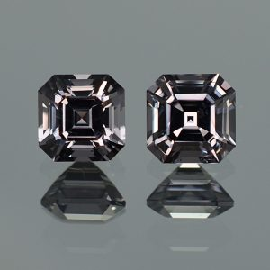 GreySpinel_sq_eme_cut_pair_6.6_6.4mm_3.29cts_sp330