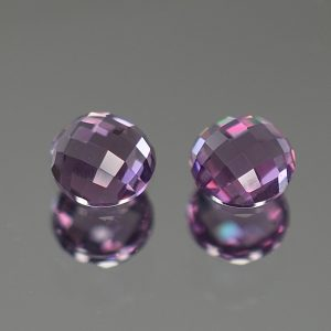 PurpleSpinel_rose_cut_round_pair_5.0mm_1.09cts_sp242