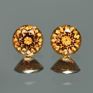 YellowOrangeZircon_round_pair_6.5mm_3.16cts_zn3221