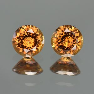 YellowOrangeZircon_round_pair_7.0mm_4.28cts_zn1994
