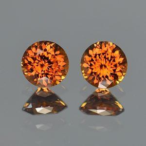 OrangeZircon_round_pair_7.0mm_4.03cts_zn1995