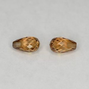 ChampagneZircon_briolette_pair_7.0x4.0mm_2.80cts_N_zn2843
