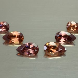 Imperial_Rose_Zircon_Earrings_Suite_pear_8.0x5.0-10.0x6.0mm_10.38cts_6pcs_a_zn966