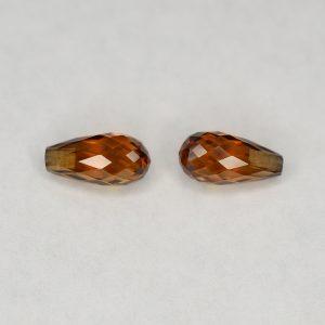 OrangeZircon_briolette_pair_8.0x4.0mm_3.18cts_N_zn2841