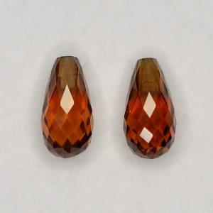 OrangeZircon_briolette_pair_8.0x4.0mm_3.20cts_N_zn2833