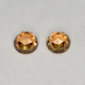 OrangeZircon_round_rose_cut_pair_5.0mm_1.64cts_N_a_zn2832