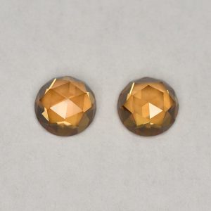 OrangeZircon_round_rose_cut_pair_5.0mm_1.64cts_N_b_zn2832