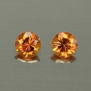 OrangeGrossular_round_pair_4.5mm_0.83cts_og107