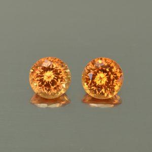 Spessartite_round_pair_5.5mm_1.91cts_N_sg146